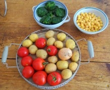 Kichererbsen mit Kartoffeln, Spinat-Tomaten (11)