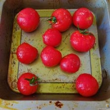 Kichererbsen mit Kartoffeln, Spinat-Tomaten (14)