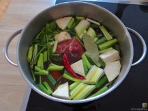 Kichererbsen mit Kartoffeln, Spinat-Tomaten (8)