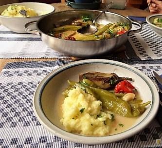 Geschmortes Gemüse mit Kartoffelstampf (14)