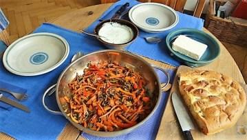 Gemüse-Portulakpfanne mit Joghurtdip (21)