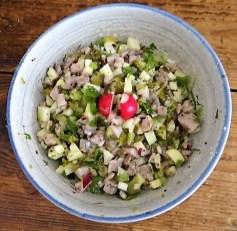 Matjes Tatar, Rote Bete Salat, Radieschensalat, Kartoffeln, (11)