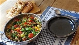 Zucchini-Gemüse mit Bulgur in Olivenöl (13)