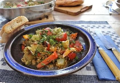 Zucchini-Gemüse mit Bulgur in Olivenöl (16)