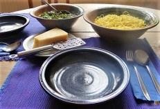 Selbst gemachte Spaghetti mit gebratenen Champignons (20)