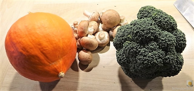 Brokkoli, Champignon, Kürbishumus und ein Apfelkuchen (2)