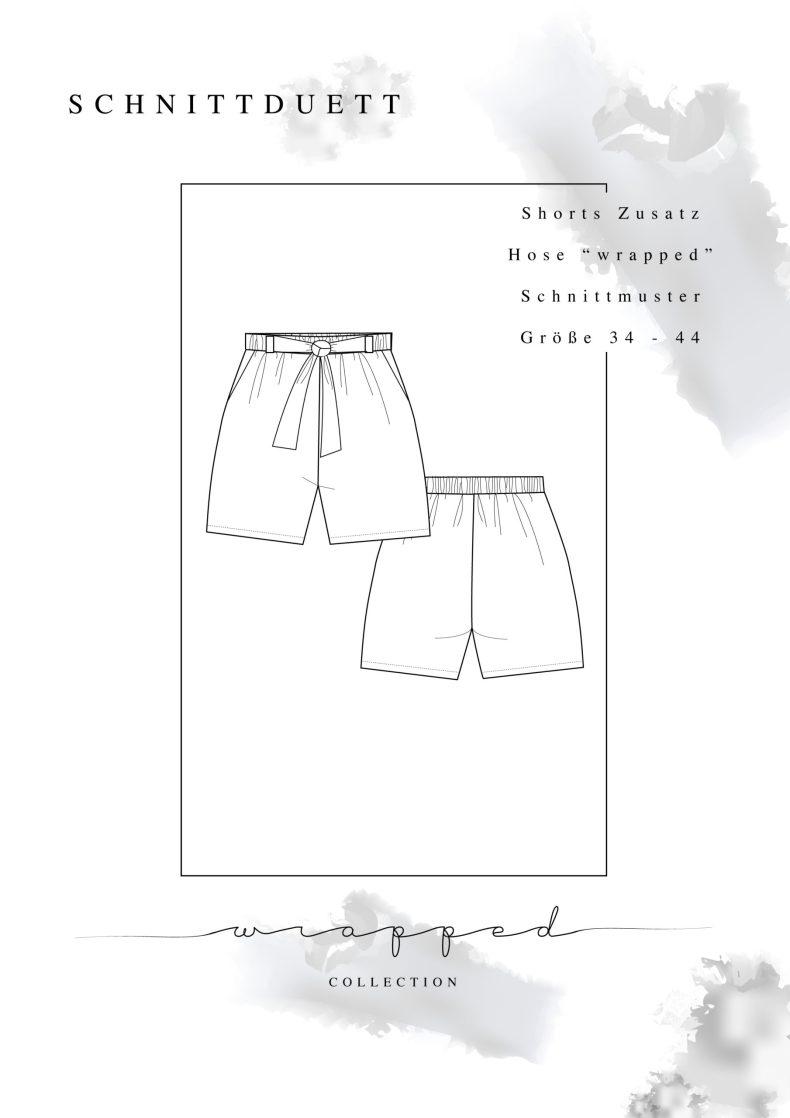 Kostenloses Schnittmuster Shorts Add-On Wrapped - Schnittduett - Moderne Schnittmuster für Damen zum Selbernähen