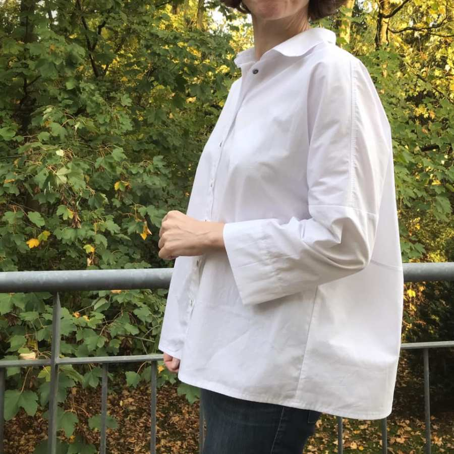 Schnittmuster Oversize Bluse Cocoon Schnittduett - Genäht von Wiebke von Mainemuhme