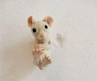 Kirsten Brünjes: Maus, Steinzeug, an der Wand montiert, Foto: Schnuppe von Gwinner