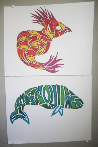 Bird & Fish sharpie
