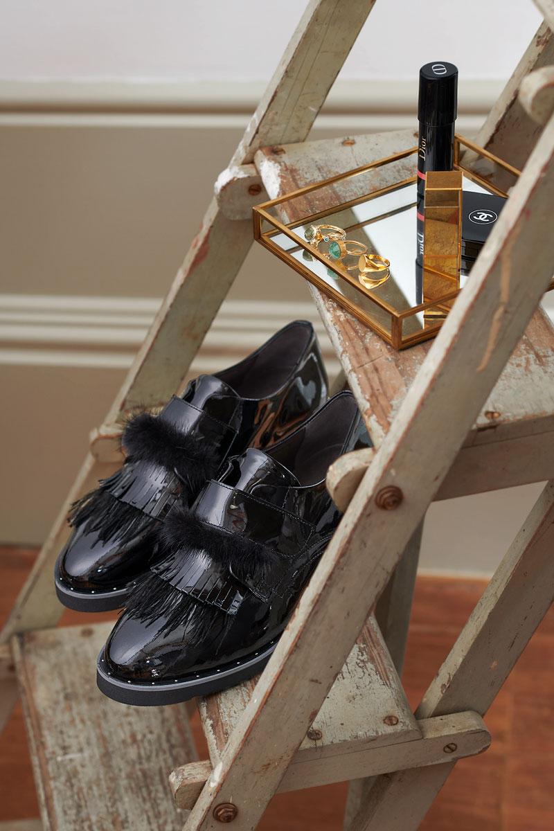 Schoenen Pantas Softwaves platte schoen zwart (2)