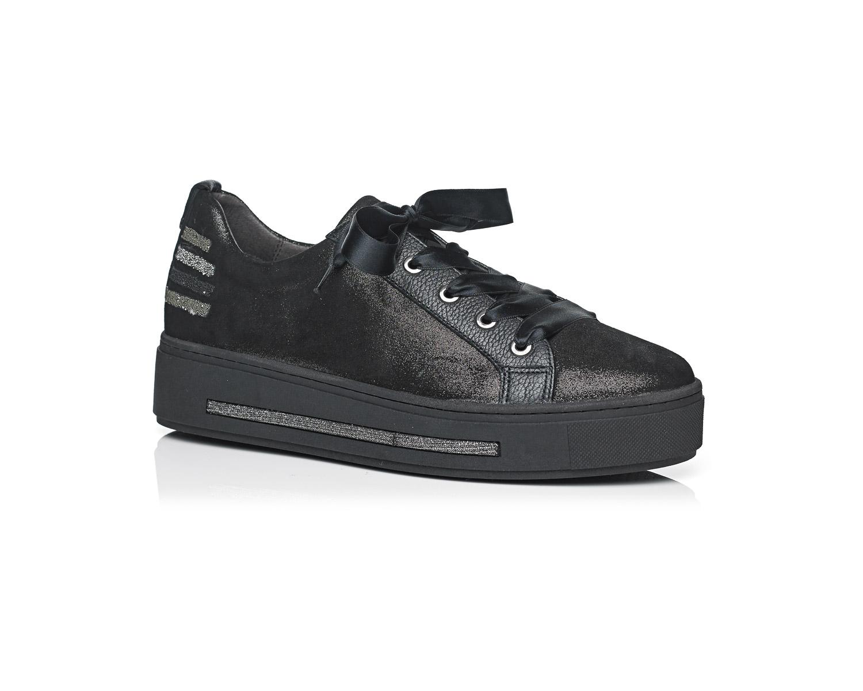 Schoenen Pantas Softwaves veterschoen zwart