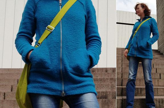 Jacke mit langen Armen und passender Taille für grosse Mädels