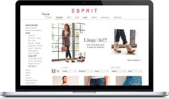 Hosen bis Länge 34 gibt es gelegentlich bei Esprit im Online Shop. Ihr müßt aber etwas suchen