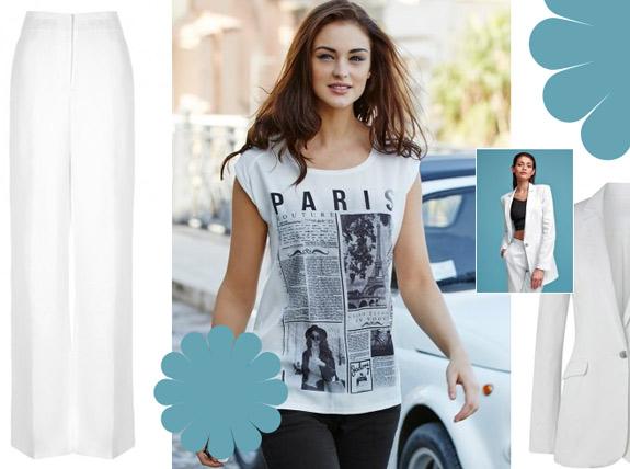 Weiße Outfits für große Frauen