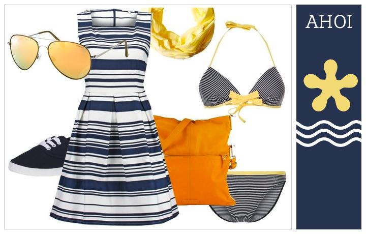 Streifen AHOI. Wir lieben Matrosen. Streifenkleider auch für große Mädels. Ideen im Modeblog für große Frauen