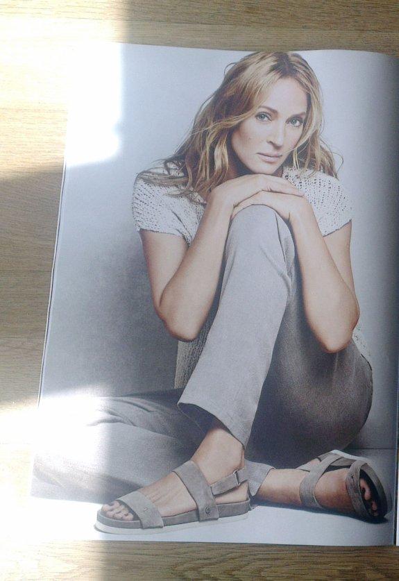 Uma Thurman, 183 cm groß und ihre Hosen