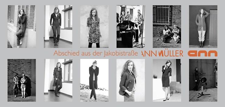 Einladung: Modedesignerin Ann Müller feiert Abschied aus der Jakobistr