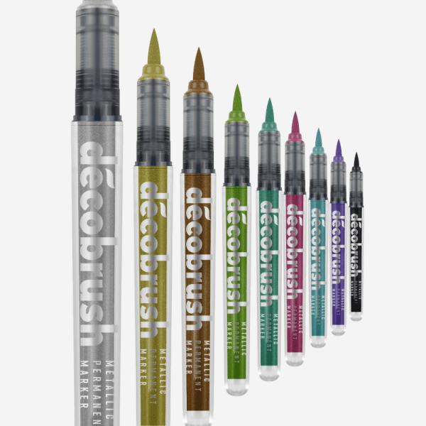 DécoBrush Metallic Brush Pen von Karin (10er Set)