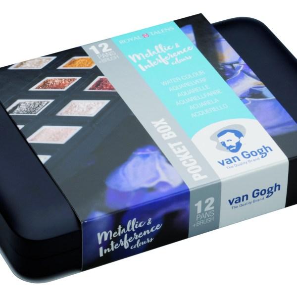 Van Gogh Pocket Box Metallic Aquarell