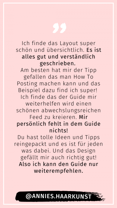 Posting Guide für Friseure
