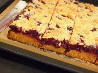 Leckerer Heidelbeer-Blech-Kuchen mit Streuseln