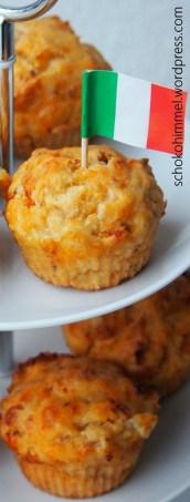 Herzhafte Tomate-Mozzarella-Muffins