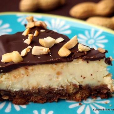 Creeeeemig, nussig, schokoladig: Erdnusscreme-Cheesecake