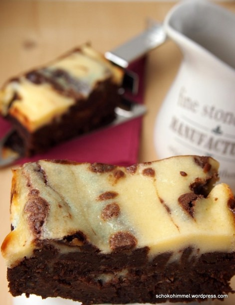 Süße, mächtige Cheesecake-Brownies
