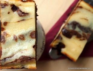 Cheesecake-Brownies von oben