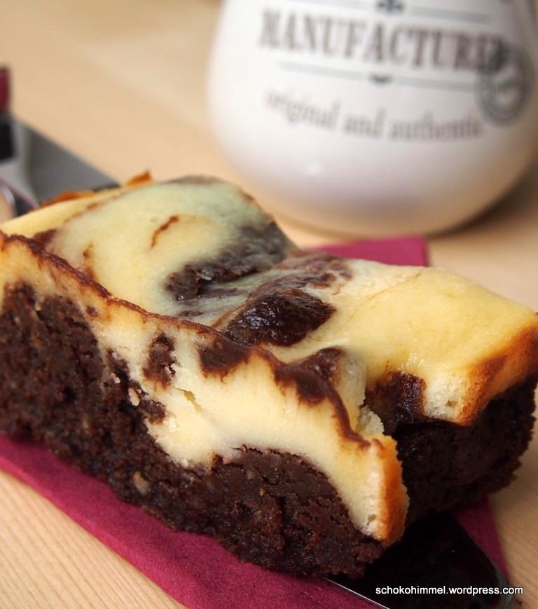 Marmorierte, saftige Cheesecake-Brownies