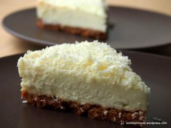 Leicht gekühlt ein Sommertraum: White Chocolate Cheesecake