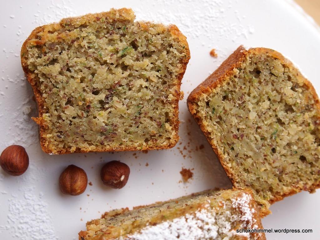 Haselnüsse + Zucchini = gesunder Kuchen