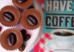 Nougat und Kaffee in Pralinenform