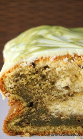 Marmorkuchen mit grünem Tee
