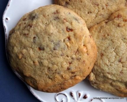 Nougat und gebrannte Mandeln in Cookieform