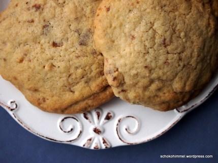 Nougat-Cookies mit gebrannten Mandeln