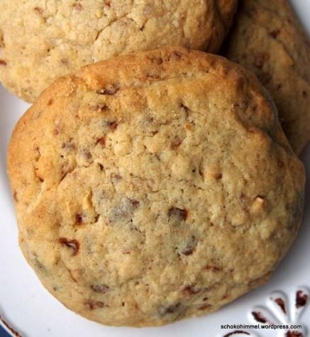 Weihnachtskekse mal anders: Nougat-Cookies mit gebrannten Mandeln