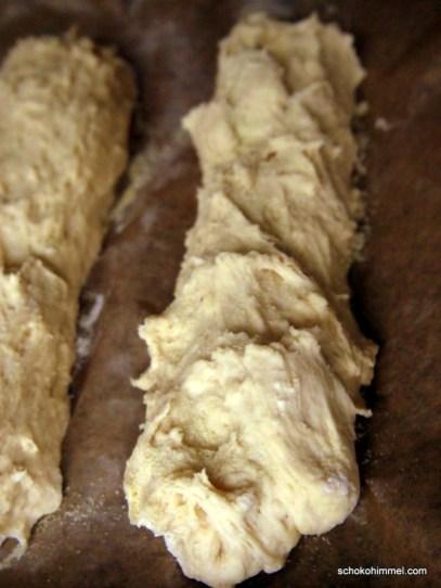rohes Grieß-Baguette