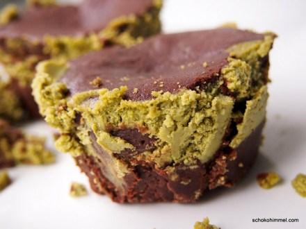 sehen doof aus, schmecken aber himmlisch: Cheesecake-Brownies
