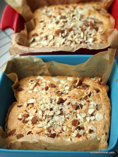 Mandelkuchen, Mandel-Brownies - auf jeden Fall lecker!