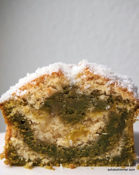 saftiger Kokos-Matcha-Kuchen