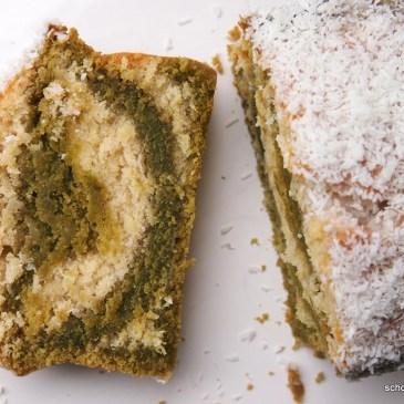 Köstlicher Kokos-Matcha-Kuchen für den #Knuspersommer