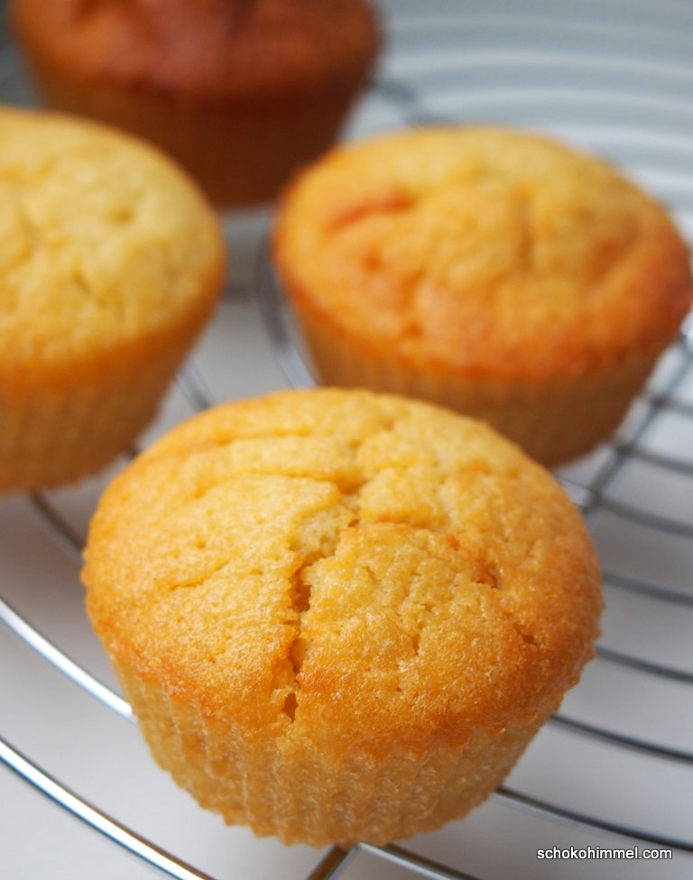 goldgelbe Apfelmus-Muffins