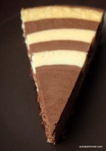 Käsekuchen mit Schokolade und Mascarpone-Quark-Creme