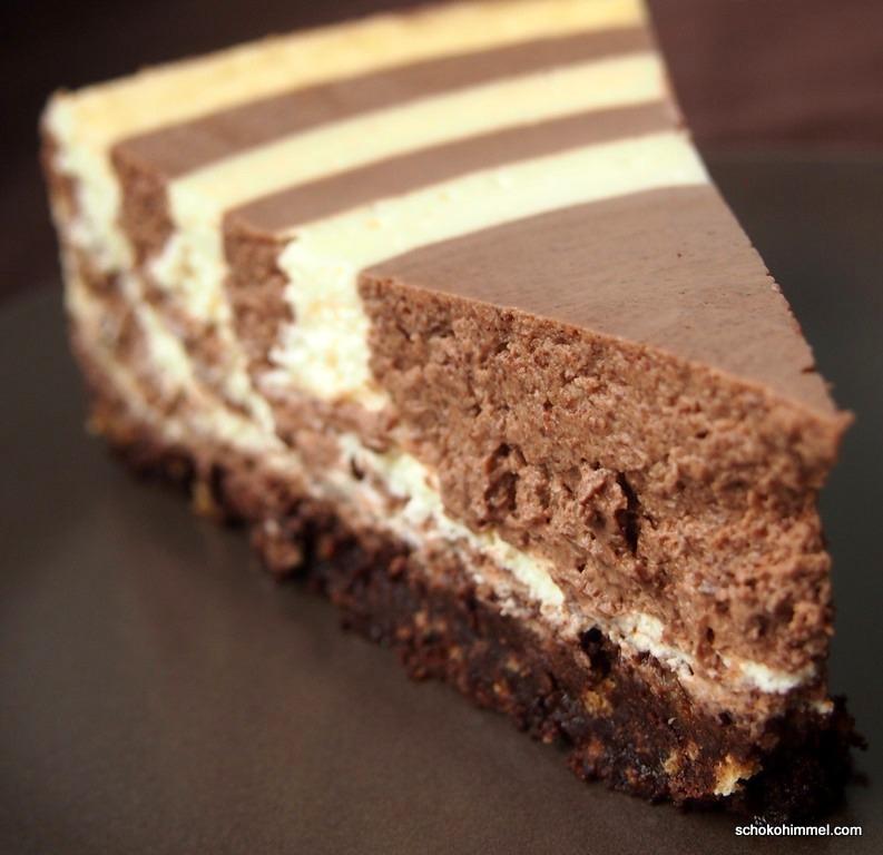 Schoko-Cheesecake mit Keksboden
