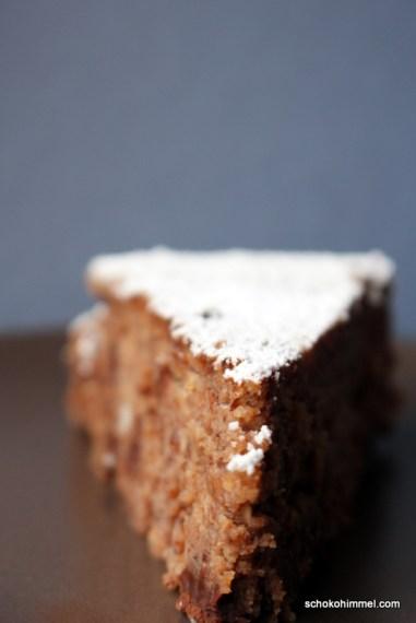 Maronen-Haselnuss-Kuchen mit Schokolade