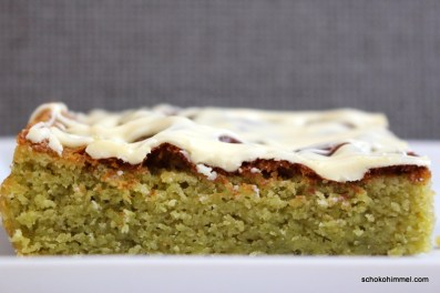 Blondies mit Matcha