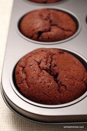 Schoko-Muffins mit Kaffee
