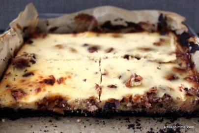 süß und ganz leicht salzig: Snickers-Cheesecake